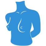 Plastic and Cosmetic Surgery Breast Icon - Blue