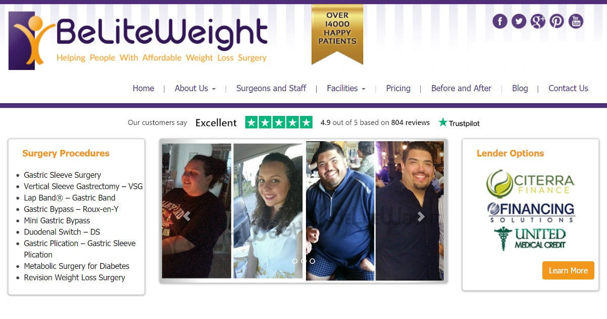 BeLiteWeight - Weight Loss Surgery in Mexico, Europe, and the United States