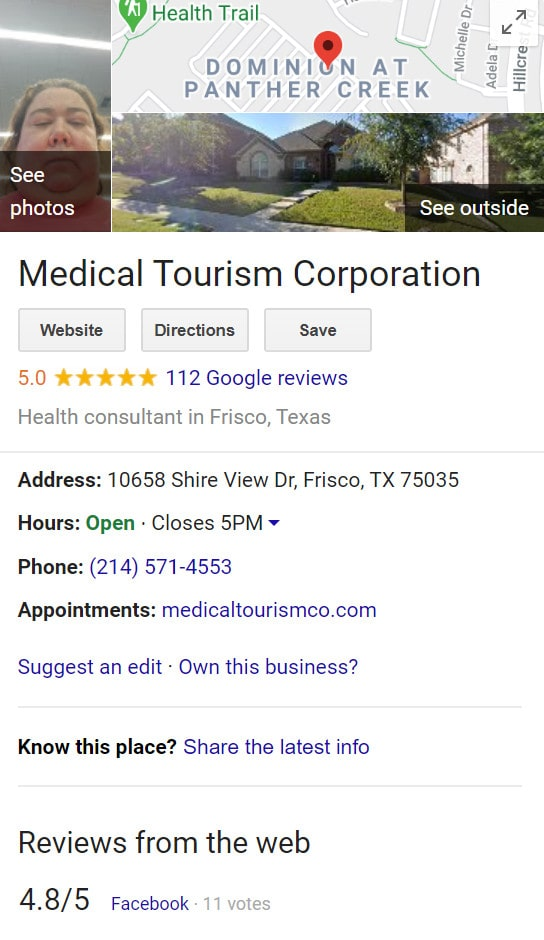 Medical Tourism Co. Reviews and Ratings on Google