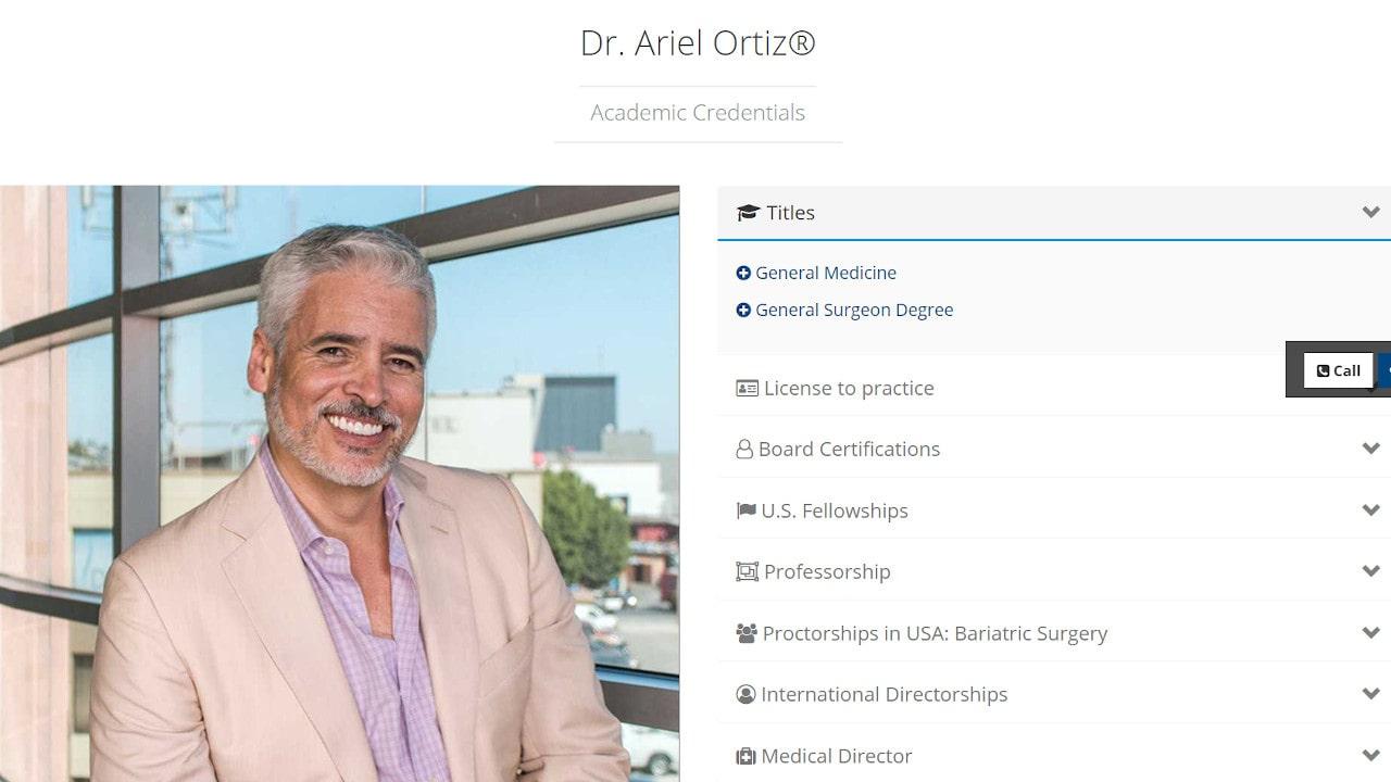 Obesity Control Center - Dr. Ariel Ortiz - Bariatric Surgeon