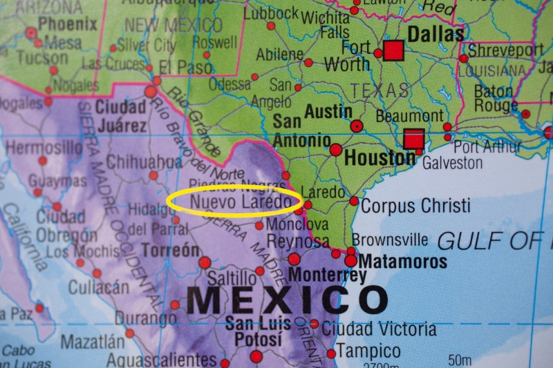 Nuevo Laredo, Mexico Map