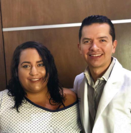 Dr Ceja with patient